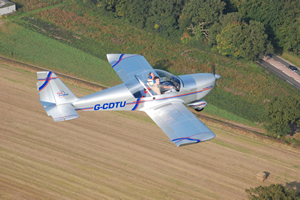 Learn to fly in a fixed wing aeroplane